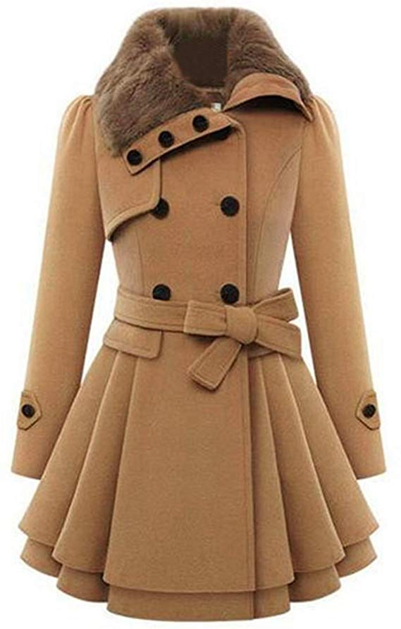 Zeagoo Thick Wool Trench Coat Jacket