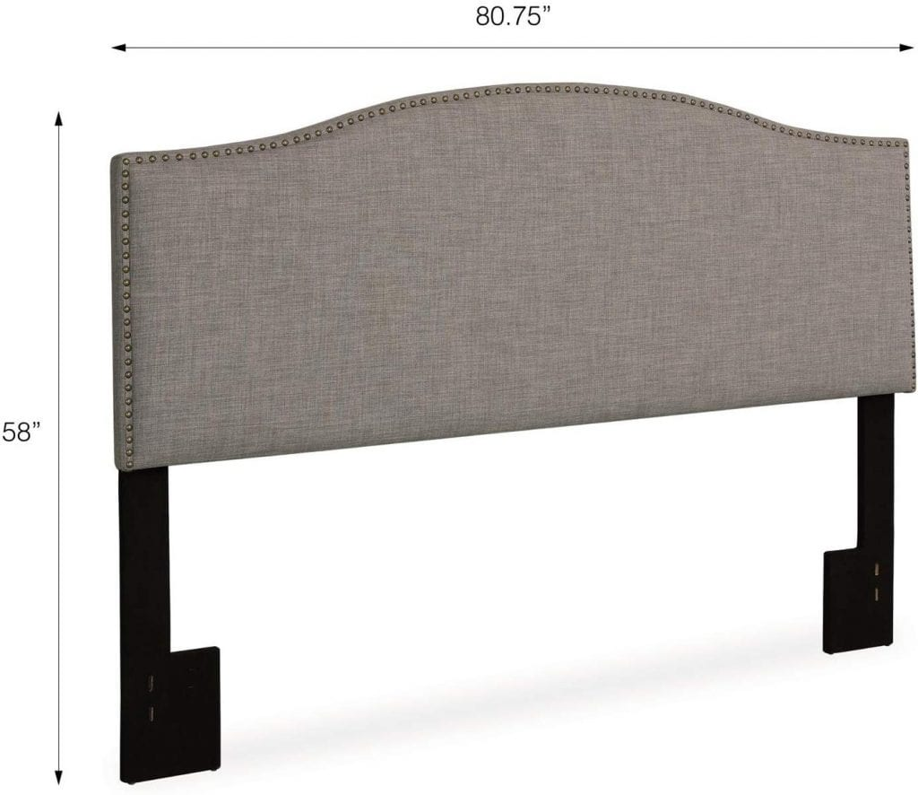 Dorel Living Winsted Headboard with Nailheads