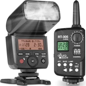 Altura Photo Professional Flash Kit for Canon with external trigger