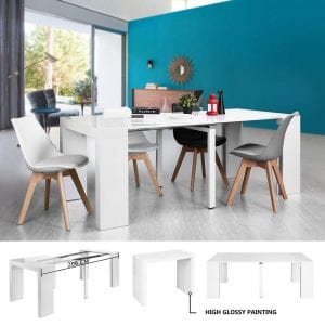 Homycasa Wooden Extendable Rectangular Dining Table