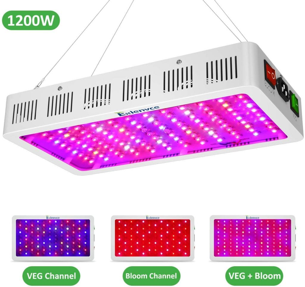 LED Grow Light Full Spectrum for Indoor Plants by Exlenvce