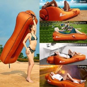 SEGOAL 2020 Ergonomic S-Shaped Inflatable Lounger Air Sofa