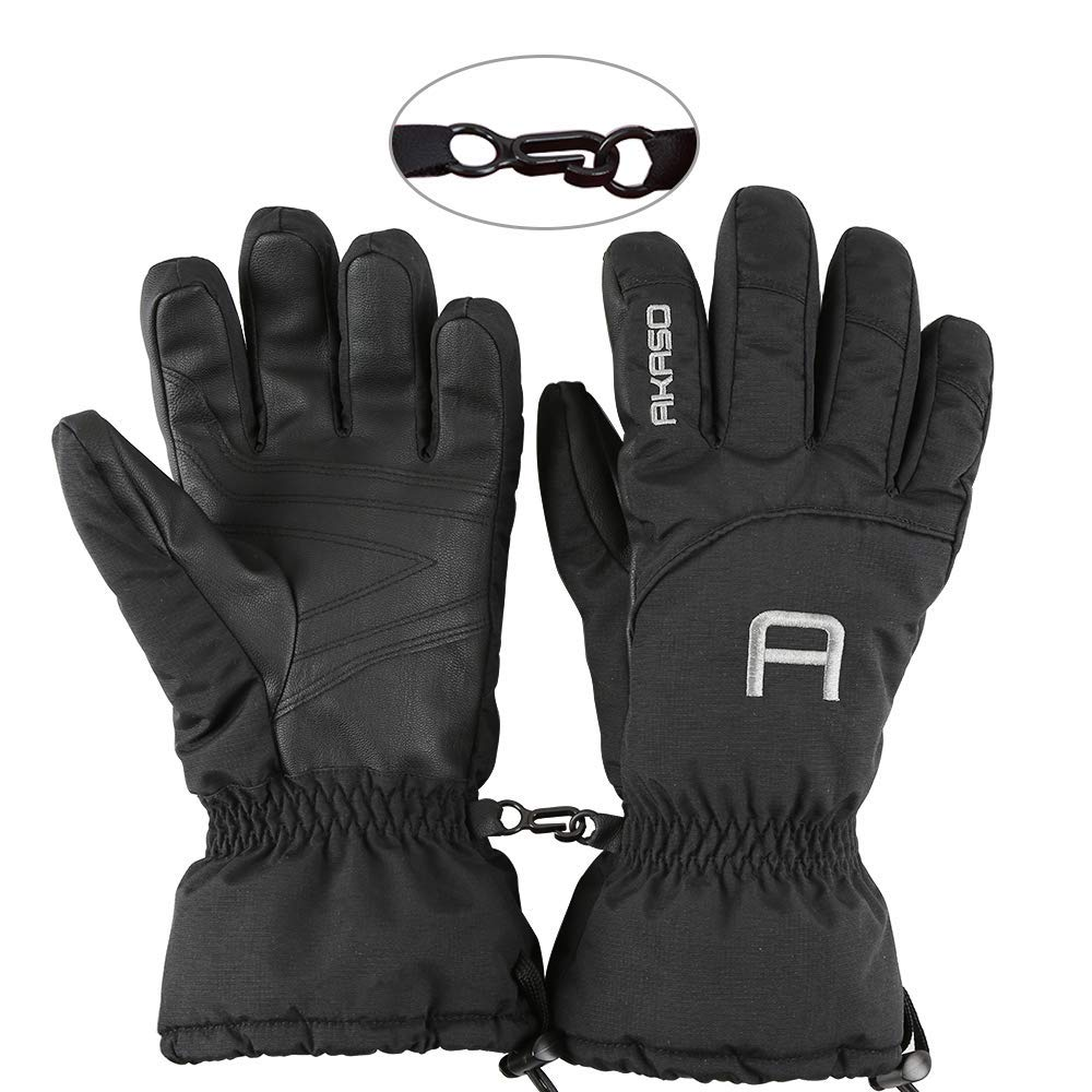 AKASO Waterproof Windproof Ski Gloves