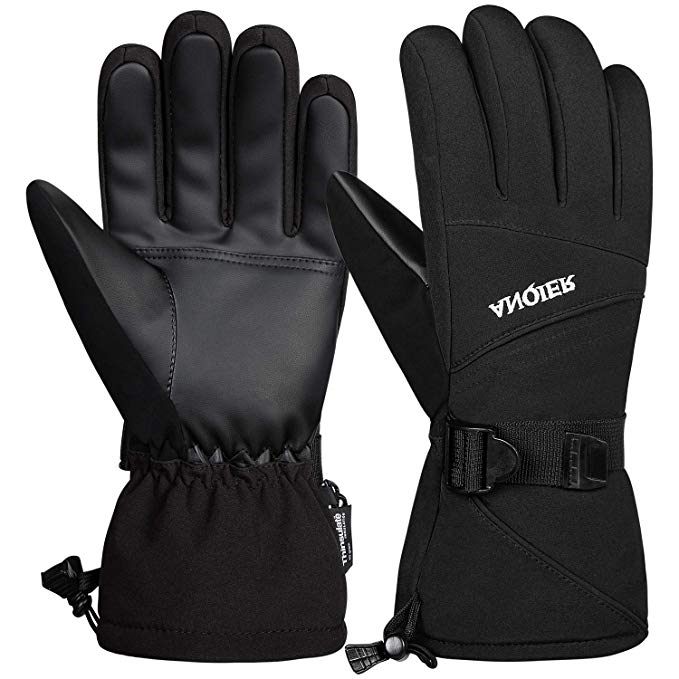 Anqier Waterproof Ski Snow Gloves