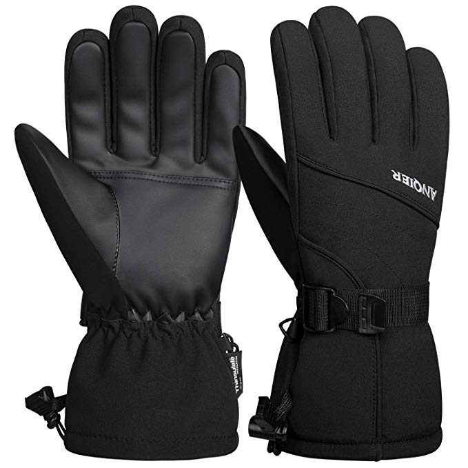 LANYI Men's Waterproof Winter Ski Gloves