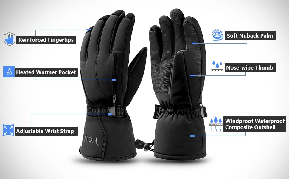 MCTi Waterproof Snowboard Gloves