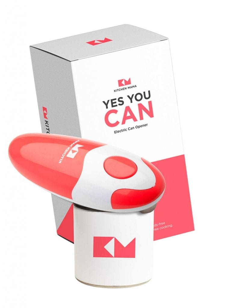Kitchen Mama Red Electric Can Opener