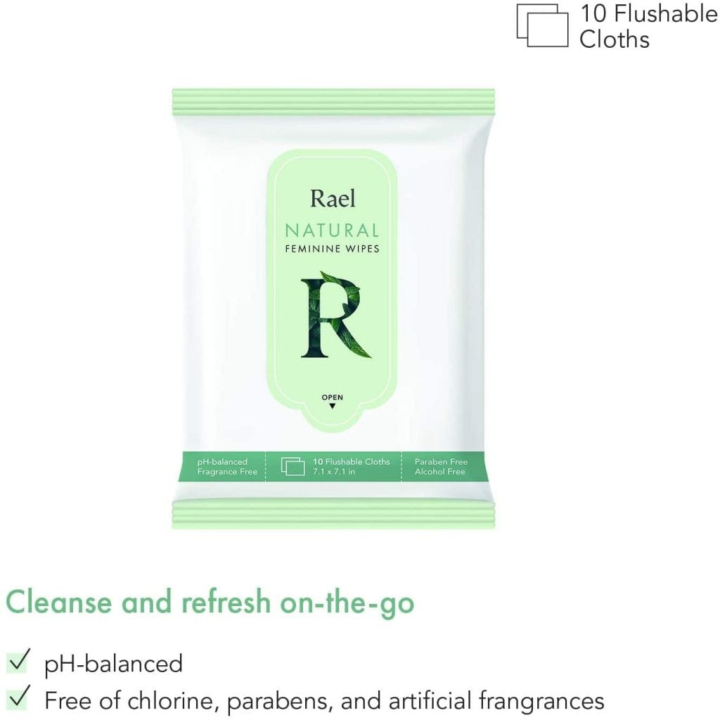 Rael Feminine Wet Wipes with Natural Ingredients