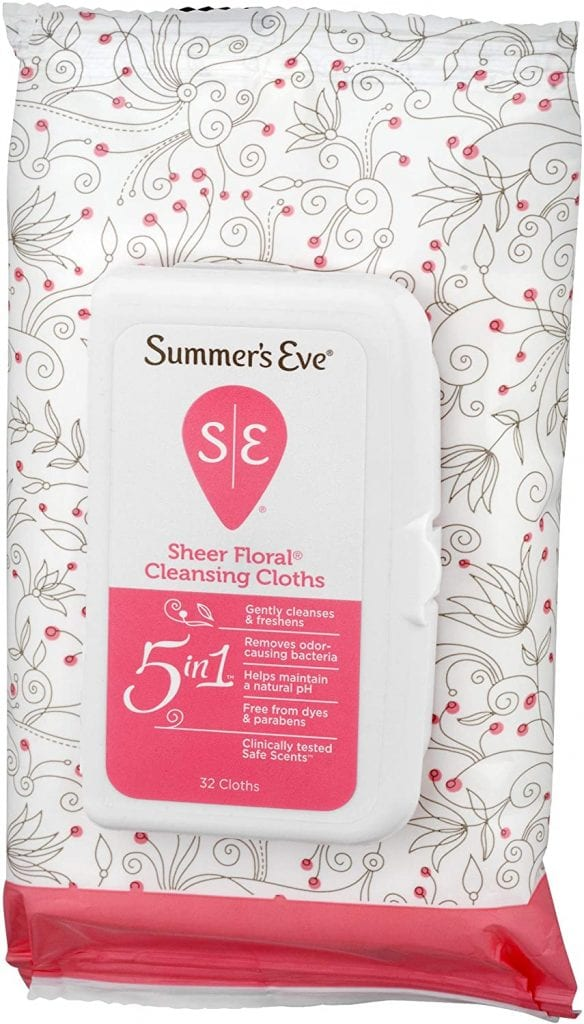 Summer's Eve Cleansing Cloths | Sheer Floral