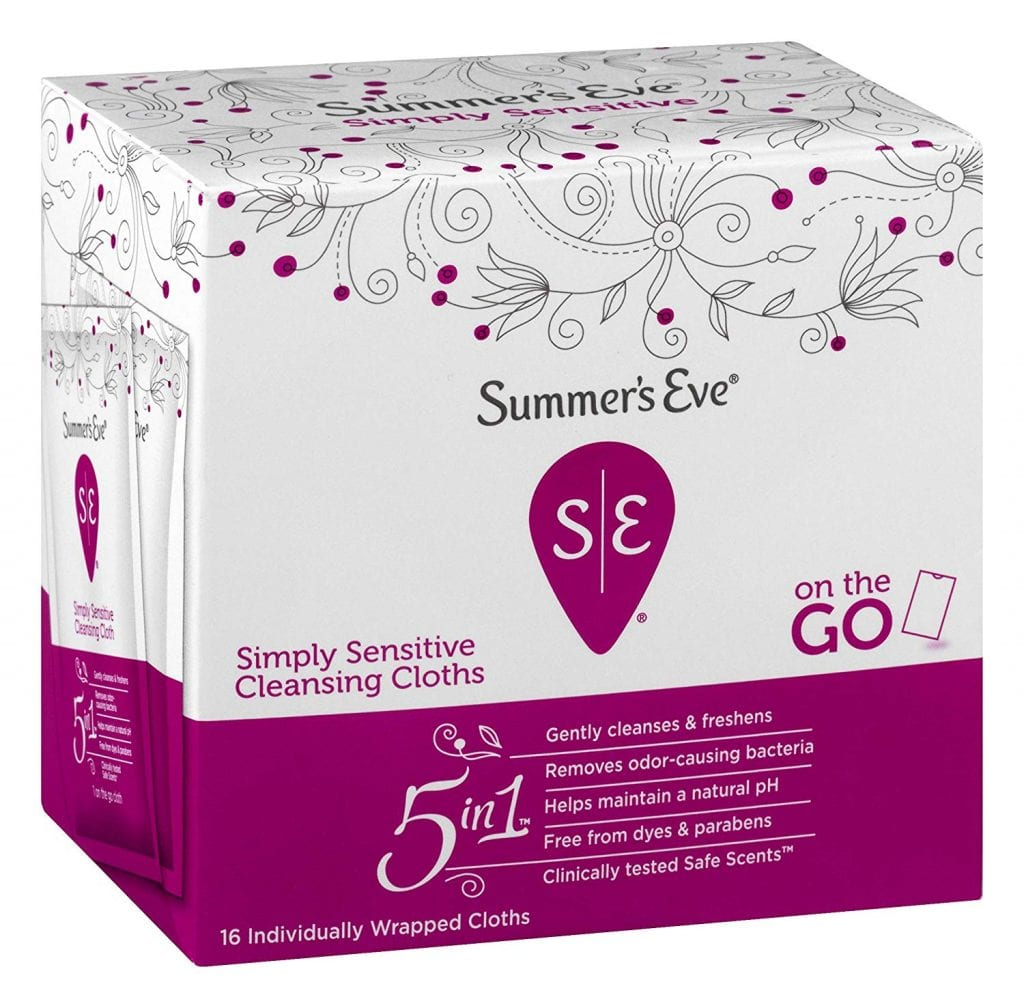 Summer's Eve Cleansing Cloths | Simply Sensitive |16 Count
