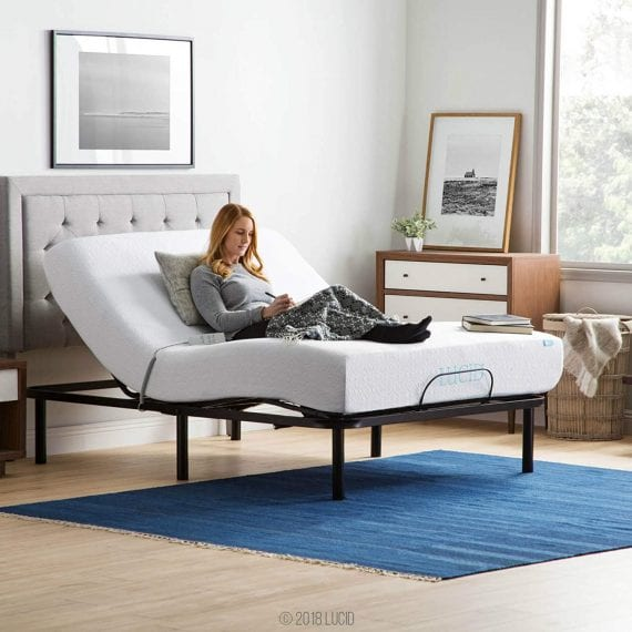 Adjustable Bed Bases With Wireless Remote, Head And Foot Inclines