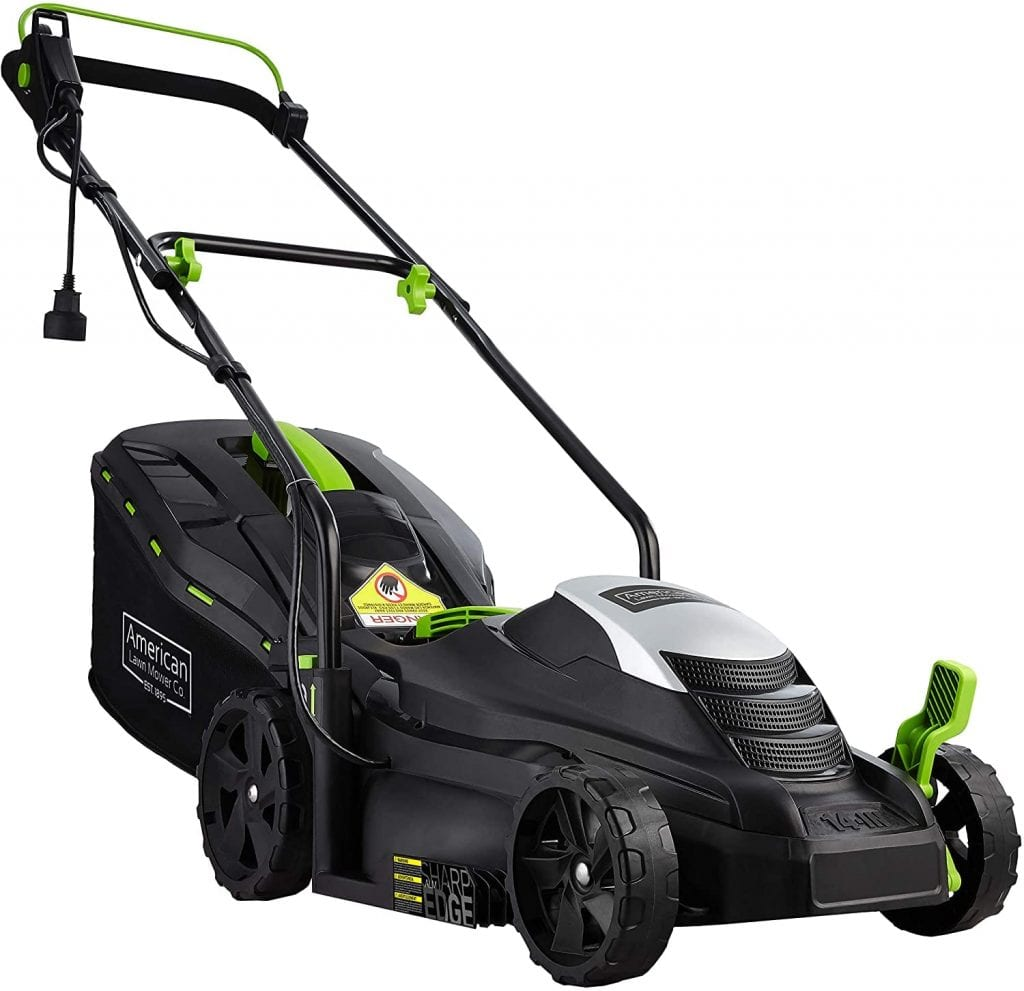 American Lawn Mower Company Black Corded Lawn Mower