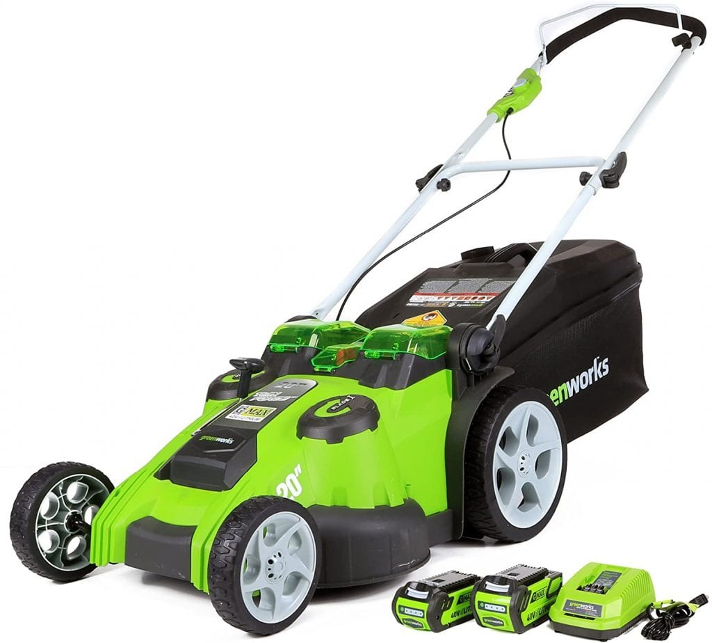 Greenworks Cordless Battery Forced Lawn Electric Mower