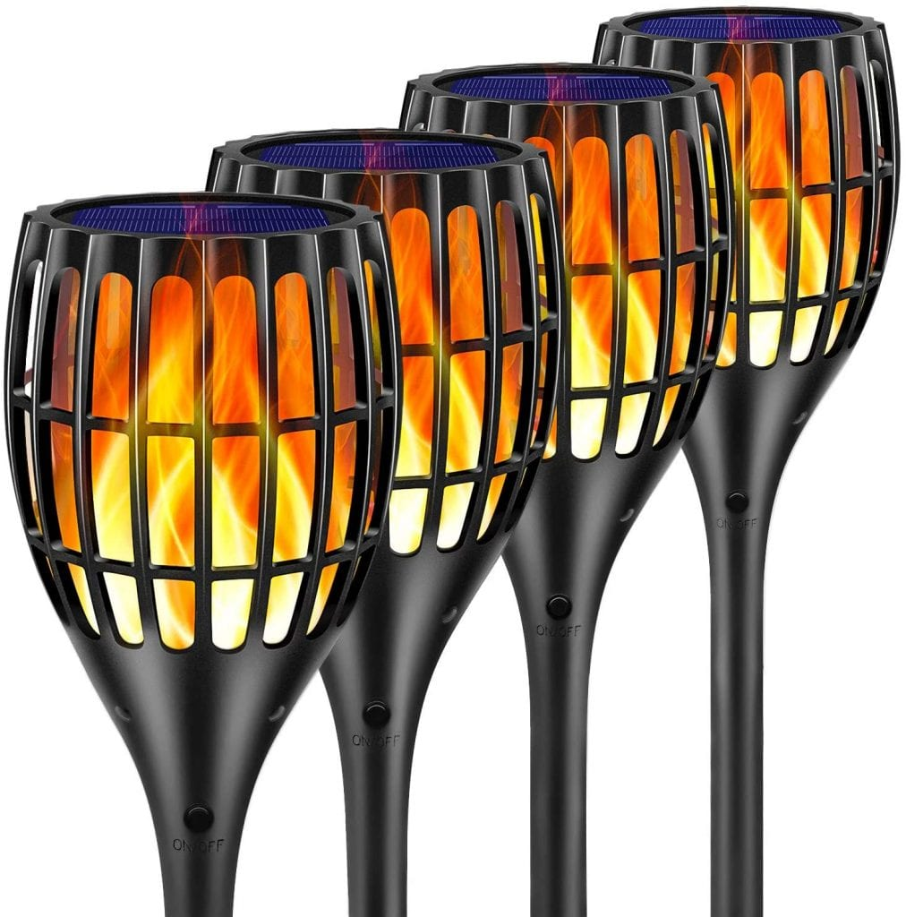 "Ollivage 43"" flickering flames solar torch lights"
