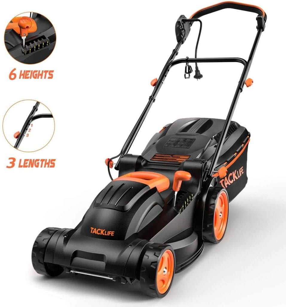 Tacklife Adjustable Electric Corded Lawn Mower