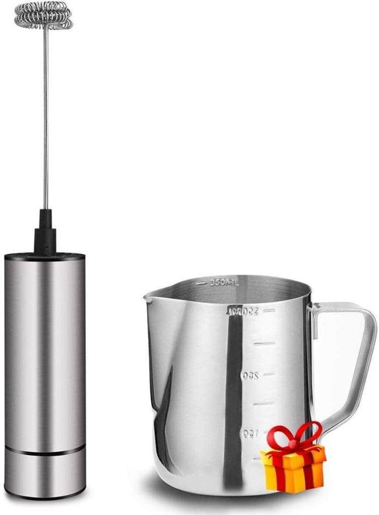 Basecent Steel Hot Or Cold Milk Frother