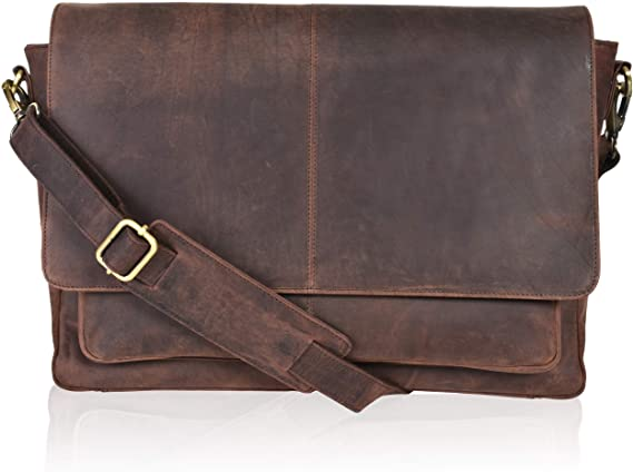Clifton Heritage Leather Briefcase 16 Inch Men's Bag
