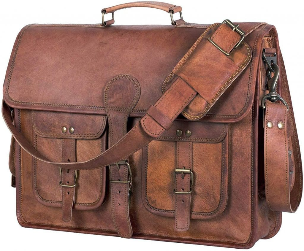 Komal's Passion Leather 18 inch Briefcase Messenger Bags