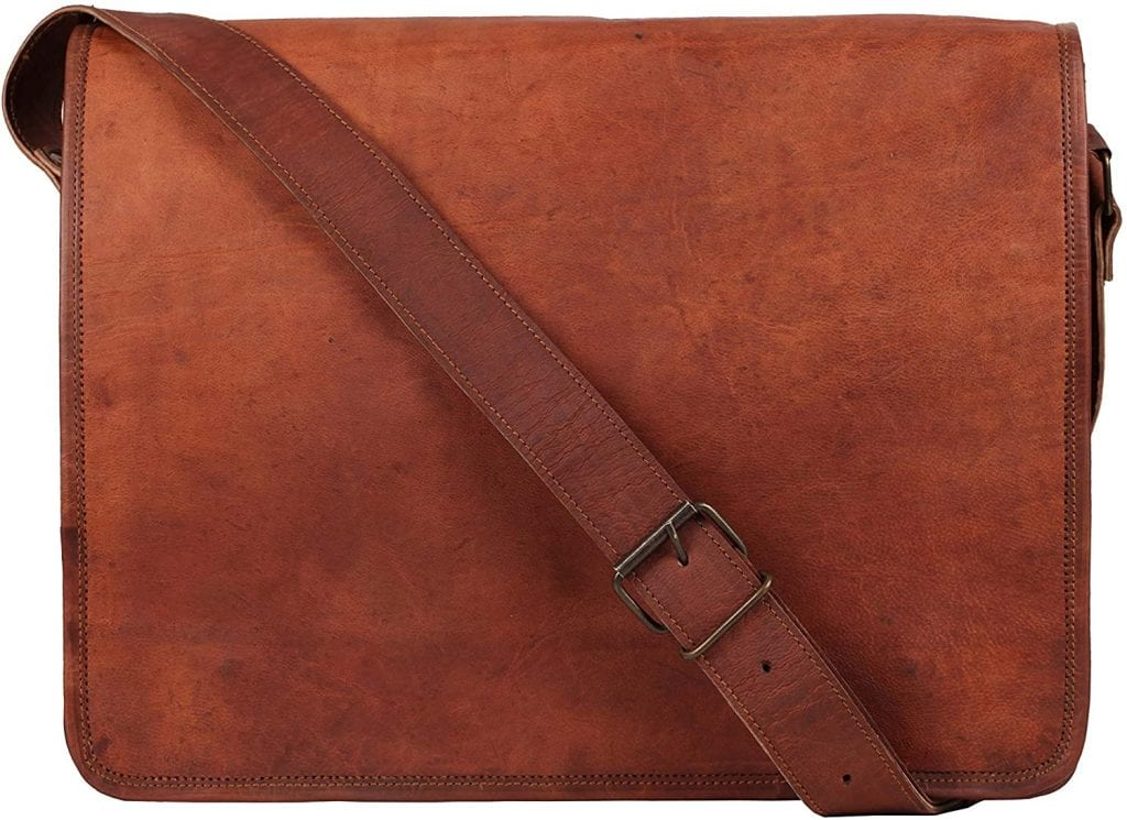 Rustic Town Vintage 15 Inches Crossbody Messenger Leather Bag