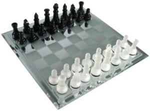 Avant-Garde Glass Chess Set