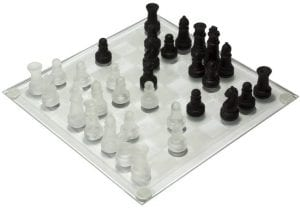CHC Glass Chess Set
