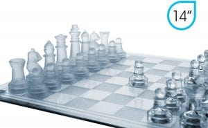 GamieTM 14 Glass Chess Set