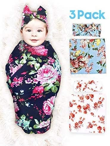 Lifely Bear New Born 3 Set Pack Headbands Included Swaddle Blanket