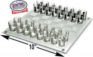 Matty's Toy Stop Small-Shot Glass Chess Set