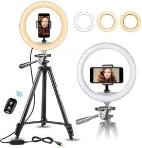 UBeesize LEd Selfie Ring Light with Tripod Stand