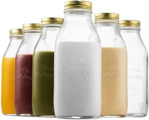 Bormioli Rocco Quattro Stagioni Glass Milk Bottle