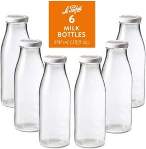 Le Parfait Glass Milk Bottles