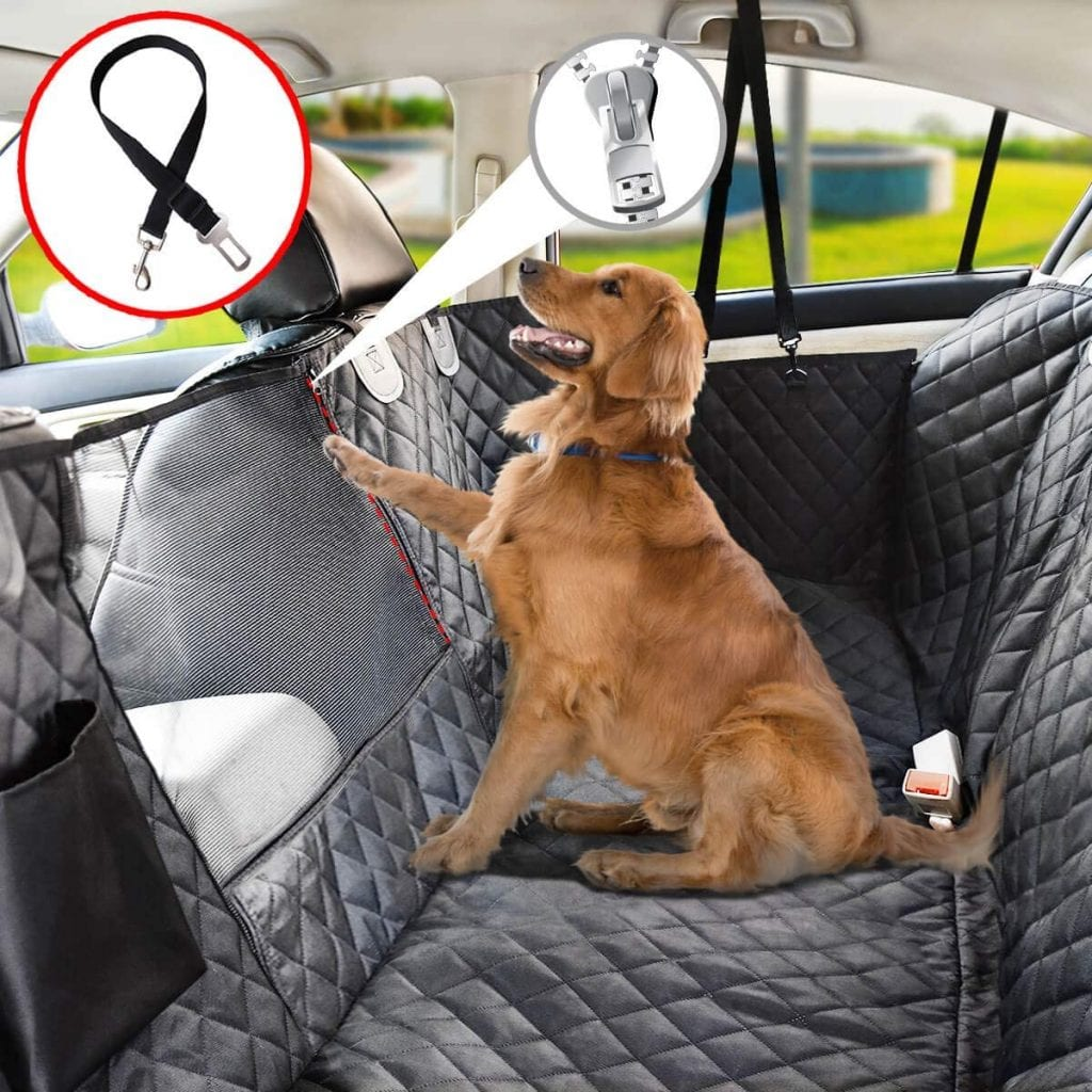 Vailge Dog Seat Cover with mesh window